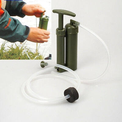 Camping Hiking Military Emergency Survival Water Filter Purifier Pump #best