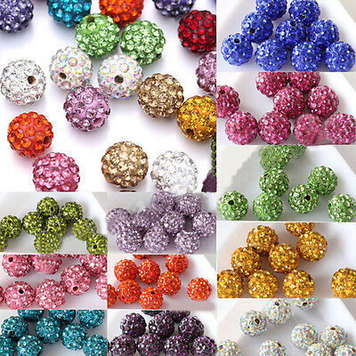 Conscientious 10mm Violet Top Quality Czech Crystal Rhinestones Pave Clay Round Disco Ball Spacer Beads For Jewelry Crafts 100pcs Beads Beads & Jewelry Making Pack