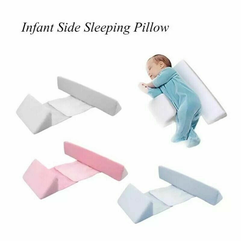 Newborn Infant Baby Side Sleep Pillow Anti-roll Cushion Support Wedge Adjustable