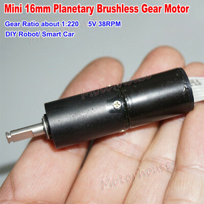 Mini 16mm 5v Brushless Planetary Gear Motor Micro Reduction Gearbox Diy Robot