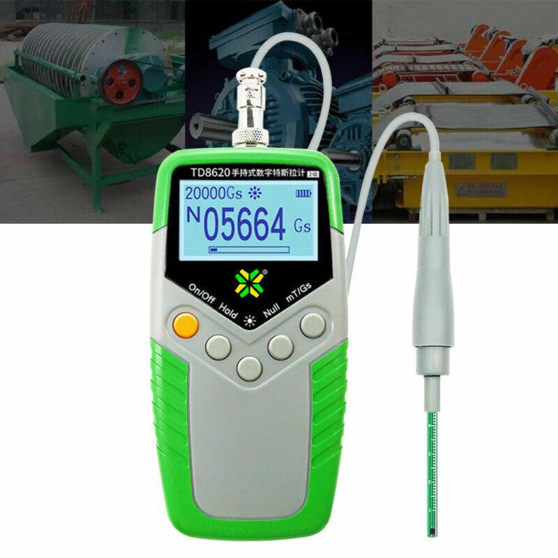 Digital Tesla Gauss Meter Magnetic Field Tester Magnetic Flux Meter W/Hall Probe