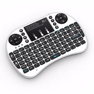 PORTABLE WIRELESS RECHARGEABLE MINI KEYBOARD FOR ANDROID TV BOX $20 MINI KEYBOARD WITH BACKLIT $25