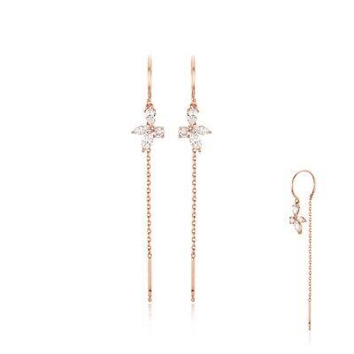 [STONE HENGE] Silver925 Rose Gold Butterfly Drop Earring SC1082 K-beauty