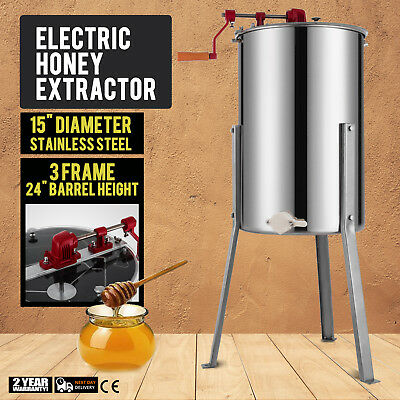Pro 36 Frame Stainless Steel Manual Bee Honey Extractor Beekeeping Equipment