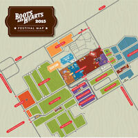 2 General Admission Boots & Hearts Wristbands for Aug 6 – Aug 9