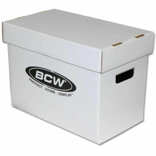 BCW Magazine Cardboard Storage Box White Documents Comic Stackable Pack-1-5-10