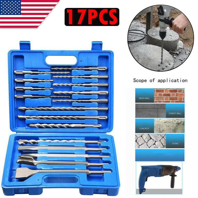 17pcs sds plus rotary hammer drill bits