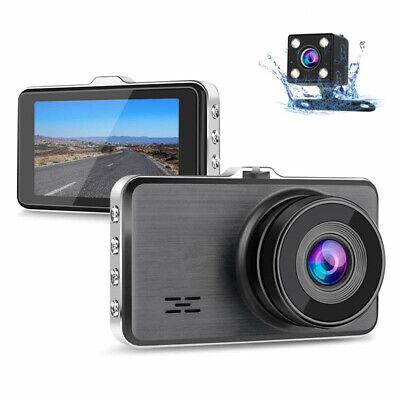 Dual Dash Cam Front and Rear, 1080P Full HD Car DVR Dashboard Camera (Front & Rear Hd Car Dash Cam)