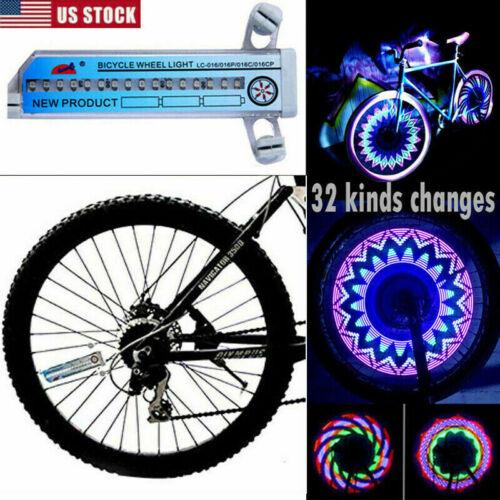 Cy/_ KE/_ 7 LED MTB Mountain Road Bike Wheel Valve Spokes Light Lamp Bicycle Decor