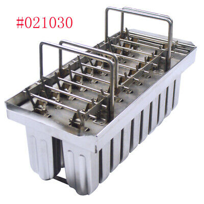 Best Sale  DIY Metal Ice Lolly Mold 2*10pcs Holes Popsicle Pops Bars US