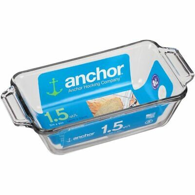 "NEW ANCHOR HOCKING Oven Basics 1.5 QT 5""x9"" LOAF PAN BAKING DISH"