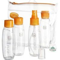 Set Bottigliette Da Viaggio Bottle Set 100ml 658 Per I Liquidi Go Travel Arancio Arancione-  - ebay.it