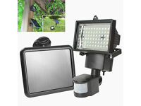 New Solar Floodlight+PIR Motion Sensor 60xLEDs Security Light Garden Garage Driveway Power Saving