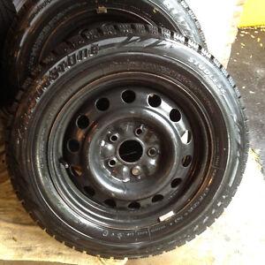 Bridgestone Blizzak Snow Tires and Rims - set of 4 Sarnia Sarnia Area image 2