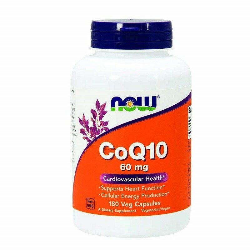 Now Foods, CoQ10, 60 mg, 180 Vcaps
