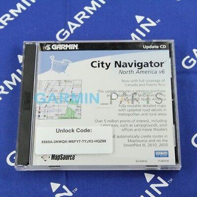 Used Software for Garmin City Navigator North America v6-2cd 007-00349-02 02 City Navigator