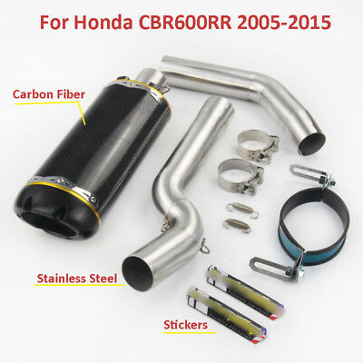 Whole Set Motorcycle Exhaust System Exhaust Link Pipe for Honda CBR600RR 2005-15