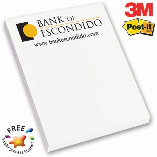 "3M POST-IT NOTE PADS, 4""x6"", 25 sheets - 500 quantity - Custom Printed"