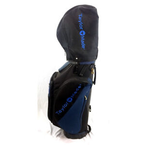 TaylorMade Golf Bag With Hood Headcover Blue Black Walking Carry