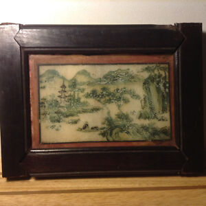ANTIQUE 18C CHINESE PORCELAIN HAND PAINTED PLAQUE