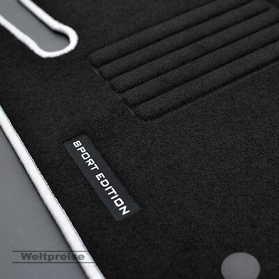 Velours Logo Fußmatten für Mercedes C-Klasse W203 Limousine Bj.2000-03/2007 si