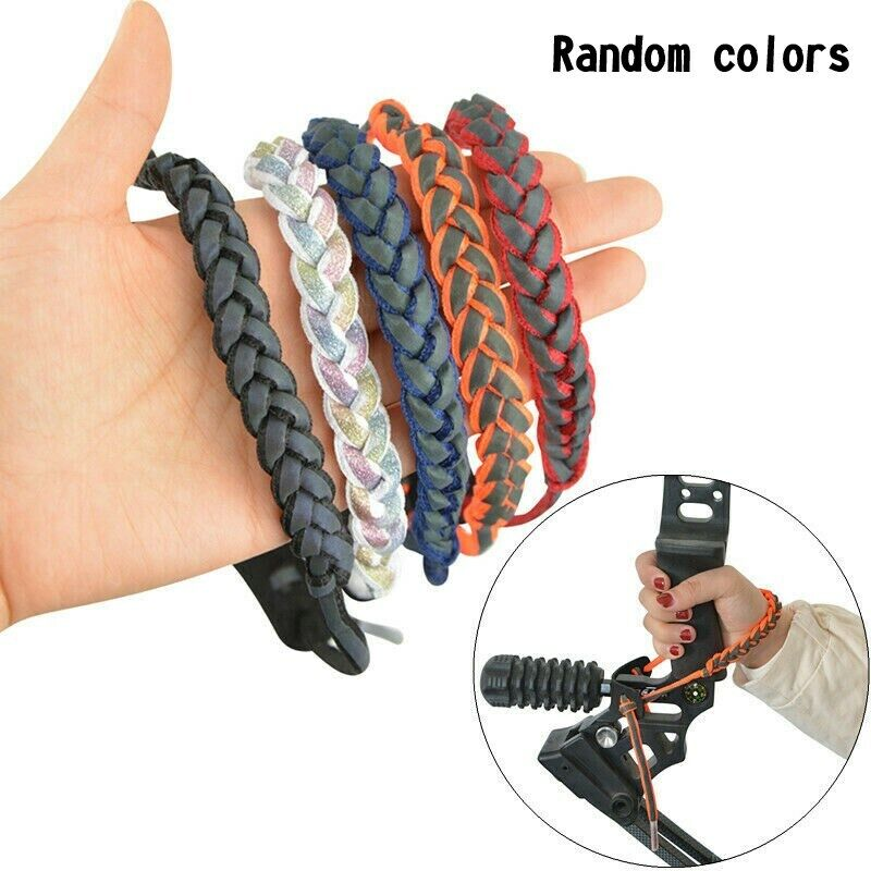 Archery Compound Bow Sling Wrist Sling Holographic Reflection Cowhide Hunt GR
