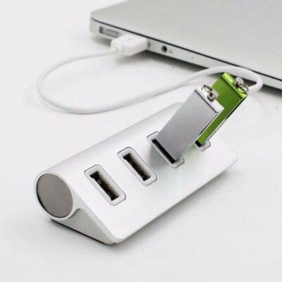 4-Port USB 3.0 Multi HUB Splitter Aluminum Adapter High Speed For PC Mac LOT TF