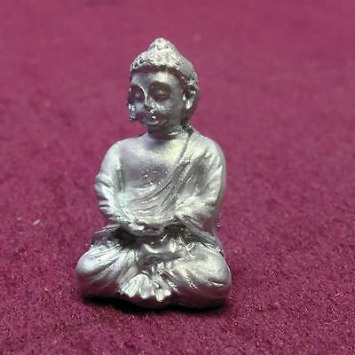 Silver Buddha Ornament, Doll House Miniatures, Accessory Ornamental Statue