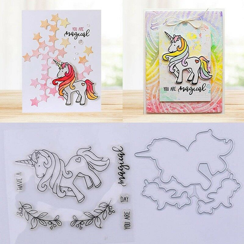 UNICORN METAL CUTTING DIE STENCIL SCRAPBOOK EMBOSSING PAPER CARD CRAFT UK SELLER
