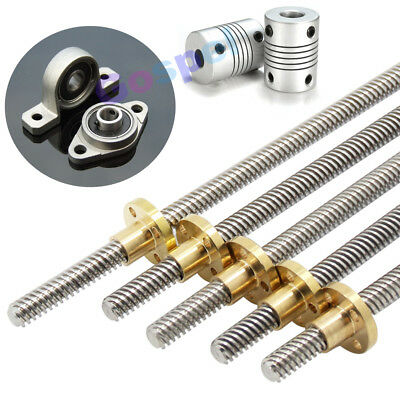 T8 Pitch 2mm Lead 2 8mm Rod Stainless Lead Screw Linear Rail Bar Shaft T8 Nut