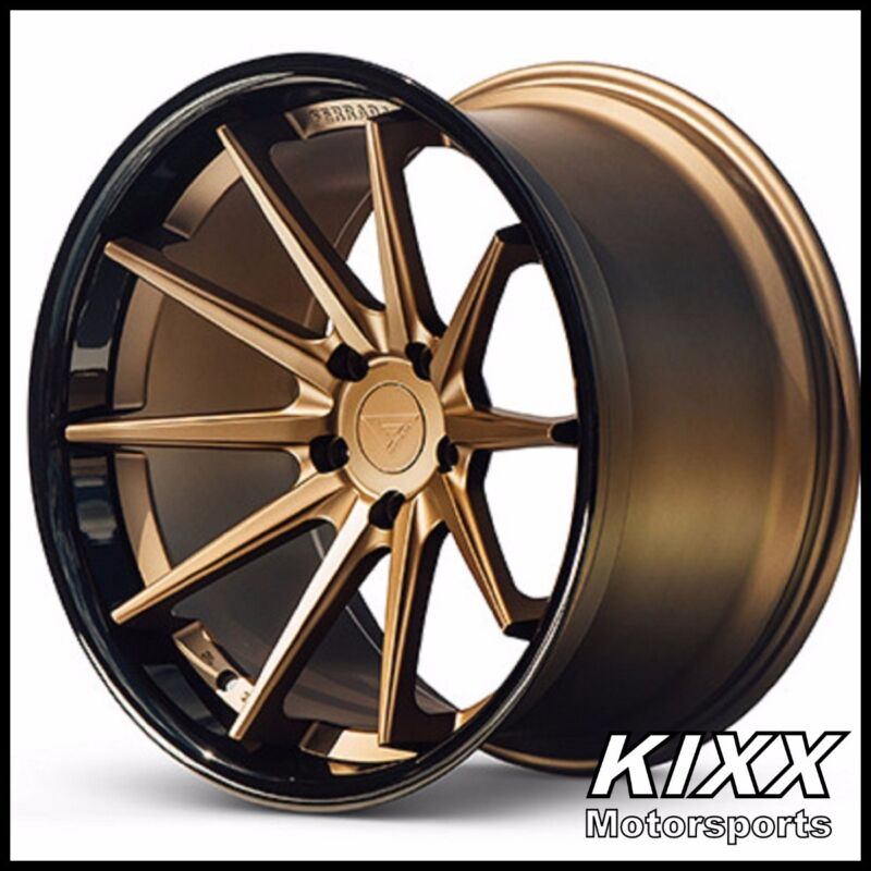 "20"" Ferrada Fr4 20x9 20x10.5 Bronze Wheels For Mercedes W218 Cls550 Cls63 Amg"
