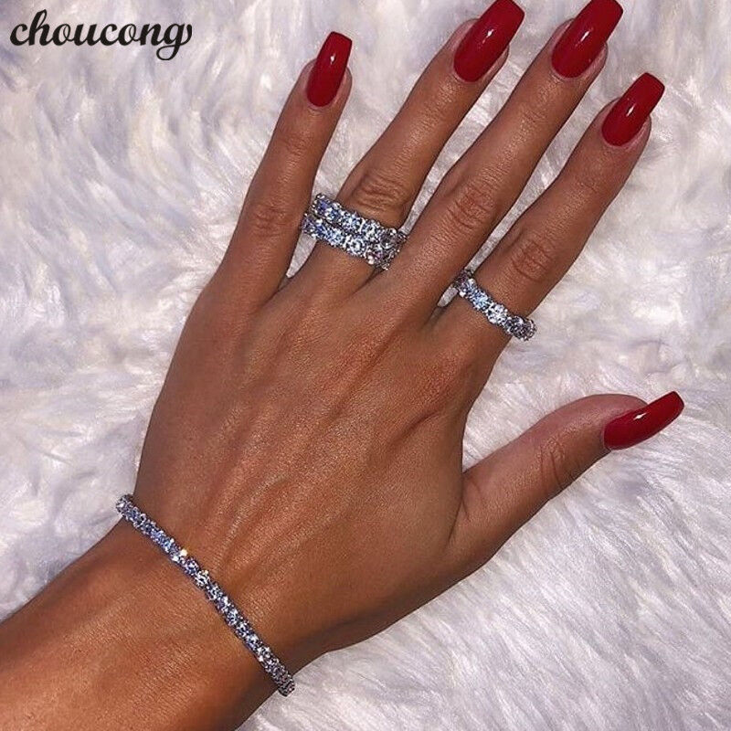 Tennis Jewelry White Gold Filled AAAA cz Engagement Wedding