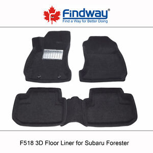 All weather 3D Car Floor Liners for 2014-2018 Subaru Forester