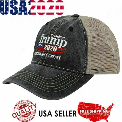 Trump 2020 MAGA Embroidered Hat Keep Make America Great Again Mesh Cap w7