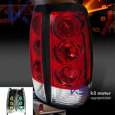 99-02 CHEVY SILVERADO/GMC SIERRA RED LENS TAIL LAMPS REAR BRAKE LIGHTS