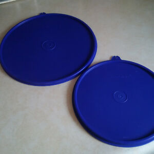 Lids for Tupperware mix & serve bowls, royal blue