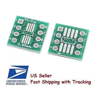 20pcs Sop8 So8 Soic8 Tssop8 Msop8 To Dip8 Adapter Pcb Conveter Board - Us Seller