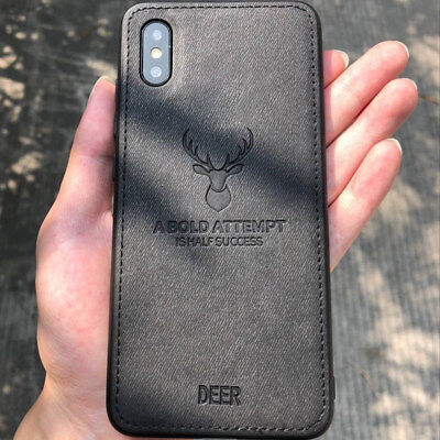 Deer Pattern - Deer Pattern Leather Texture Phone Case Cover For Apple iPhone X 8 6s 7 Plus 6