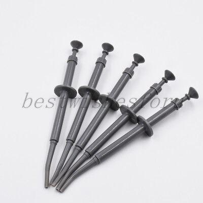 5 Pcs Dental Amalgam Carrier Syringes Instruments Filling Plastic Delivery Gun