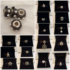 Authentic Pandora Retired, 2 Tone and Hard to Find Charms