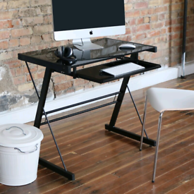 Metal and Glass Desk BRAND NEW/BOXED