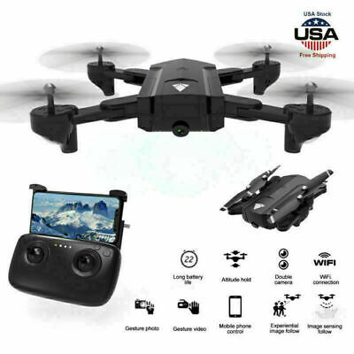 Drone Pro Foldable RC Quadcopter WIFI FPV with 1080P HD Dual Camera with Battery