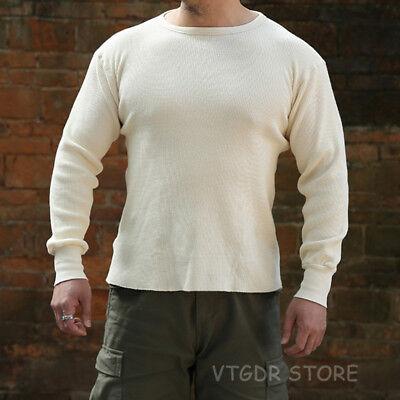 Knit Tee (NON STOCK Waffle Pattern Knit Tee Heavyweight Mens Long Sleeve T-Shirts Slim Fit)