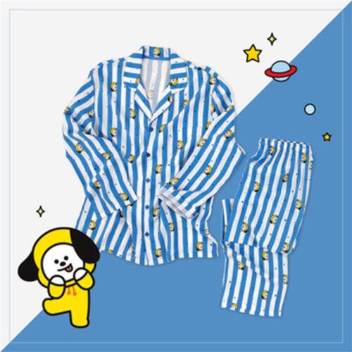 BTS BT21 KPOP TATA CHIMMY KOYA Women Nightgowns+Pajama pants Sleepwear Nightwear