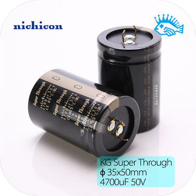 4700uf 50v Kg Superthrough Nichicon Gold-plated Foot Electrolytic Capacitor