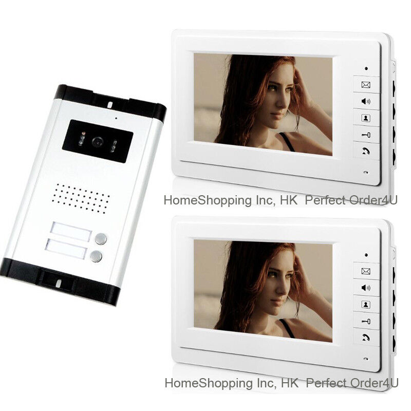 "APARTMENT 2-UNIT WIRED 7"" LCD VIDEO DOOR PHONE INTERCOM SYSTEM VIDEO INTERCOM1V2"