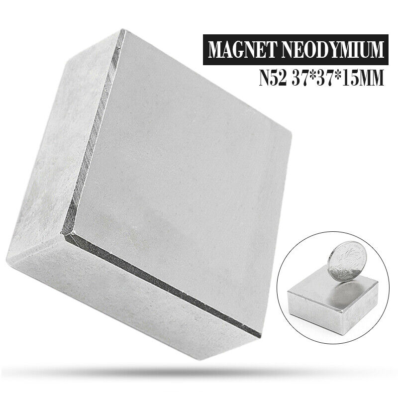 N52 Large Neodymium Rare Earth Magnet solid Super Strong Squ