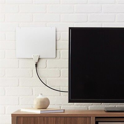 BRAND NEW- NIB- Amazon Basics Ultra Thin Indoor TV Antenna 35 Mile Range-White for sale  Dublin