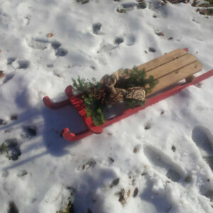 Vintage Look Sled With Fresh Bough Belleville Belleville Area image 3