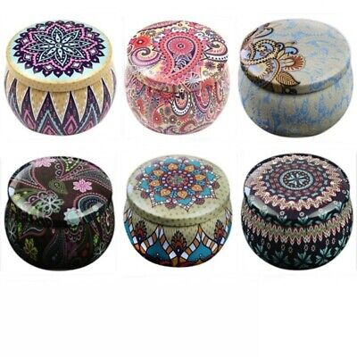 Lovely Mini Tin Box Gift Jewelry Tin Box Cookie Candy Tea Storage Round Box NEW Round Mini Tin